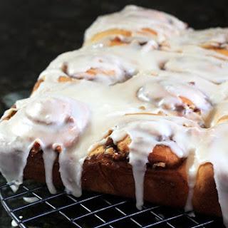 Make-Ahead Cinnamon Rolls With Cream Cheese Icing.