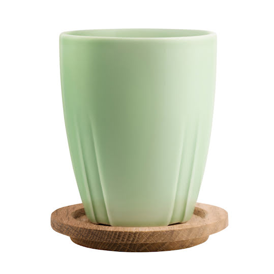 Bruk Mug & Oak Lid Tea Green 35cl