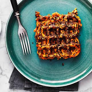 Quinoa Sweet Potato Waffles.