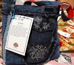 "Photo: #31-W, Kris Curtis, ""Jeans Tote Bag"""