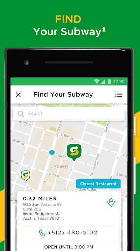 Screenshot for SUBWAY® in United States Play Store