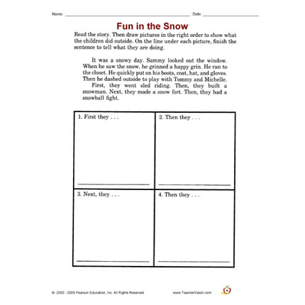 Photo: Here your link to today's freebie. http://bit.ly/VIHBn0 Happy Freebie Friday from TeacherVision. Save or print your FREE winter sequencing activity today. It's free for a limited time. (Posted 2/8/2013)