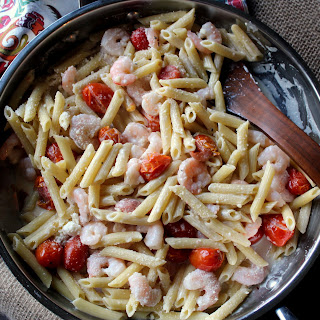 Creamy Shrimp Penne with Grape Tomatoes