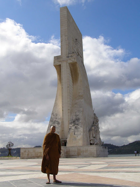 Photo: Then the Discoveries stone monument, Lisbon by the Tagus river.