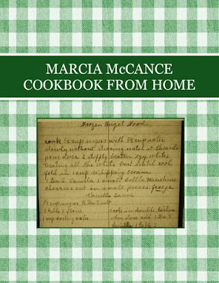 MARCIA McCANCE  COOKBOOK FROM HOME