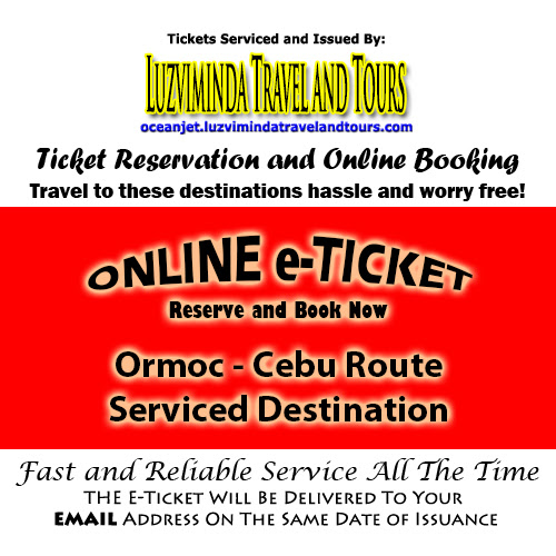 OceanJet Ormoc-Cebu Route Ticket Reservation and Online Booking