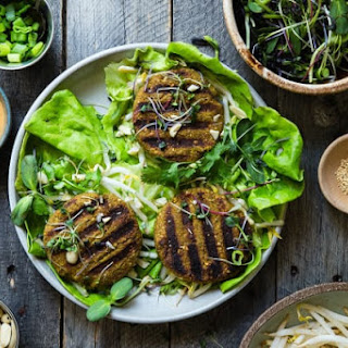 Low Carb Thai Curry Grilled Veggie Burgers.