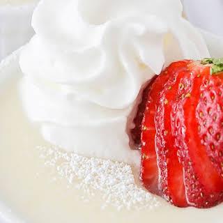 Homemade White Chocolate Pudding.