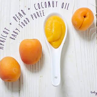 Apricot + Pear + Coconut Oil Puree.