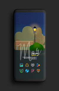 Color Line DARK Icon Pack (MOD, Paid) v1.2 2