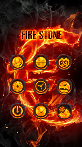 android Fire Stone-Solo Theme Screenshot 2