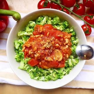 Spicy Ground Turkey Meat Sauce and Broccoli Rice Bowls (paleo, GF)