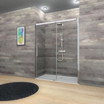 Porte de douche coulissante en niche