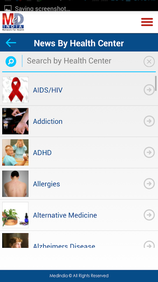 Medindia Health News- screenshot