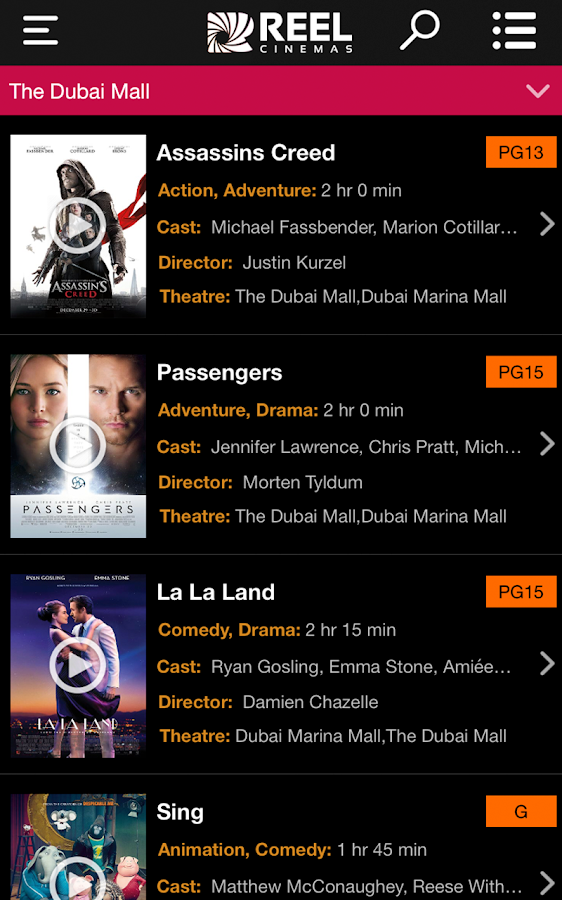Reel Cinemas- screenshot