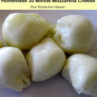 Homemade 30 Minute Mozzarella Cheese