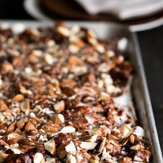 Rocky Road Chocolate Sheet Cake