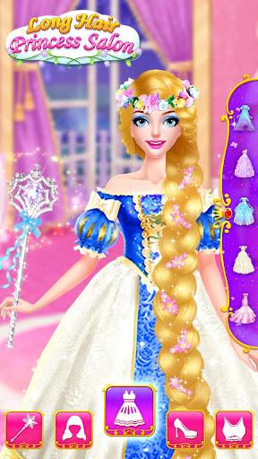 👸💇Long Hair Beauty Princess - Makeup Party Game screenshot 15
