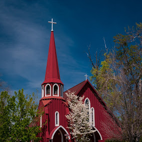 Red Church by Jeff Yarbrough - Buildings & Architecture Places of Worship ( aau, barns, calaveras, lines )