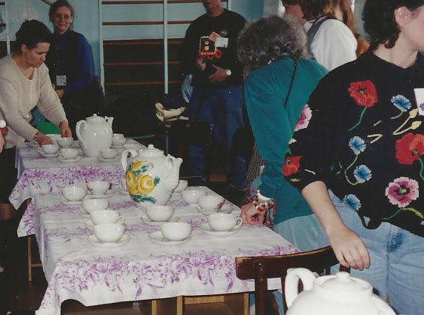 """Another """"tea time"""" that we had at another orphanage. (It was really funny because..."""