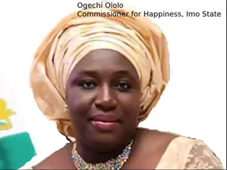 Ogechi Ololo, Commissioner for happiness.