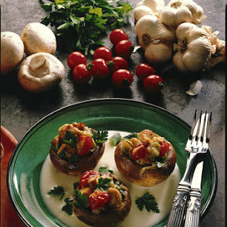Turkey and Tomato Stuffed Mushrooms