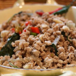 Thai Basil Pork (Pad gkaprow mu).