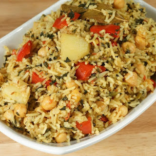 Chickpea Pulav (Chola Biryani, One Pot Meal).