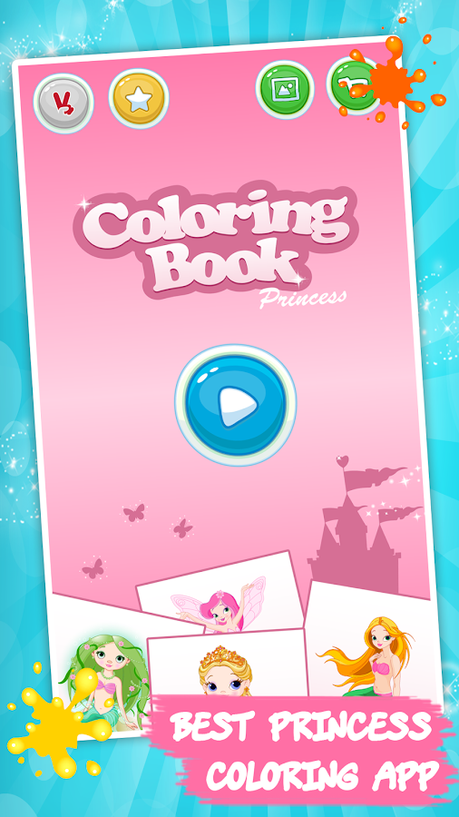 Kids coloring book: Princess- screenshot
