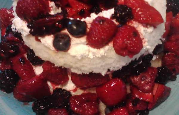 Angel Balsamic Cream Berry Cake Recipe