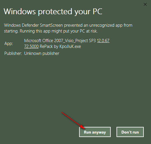 lỗi Windows protected your PC