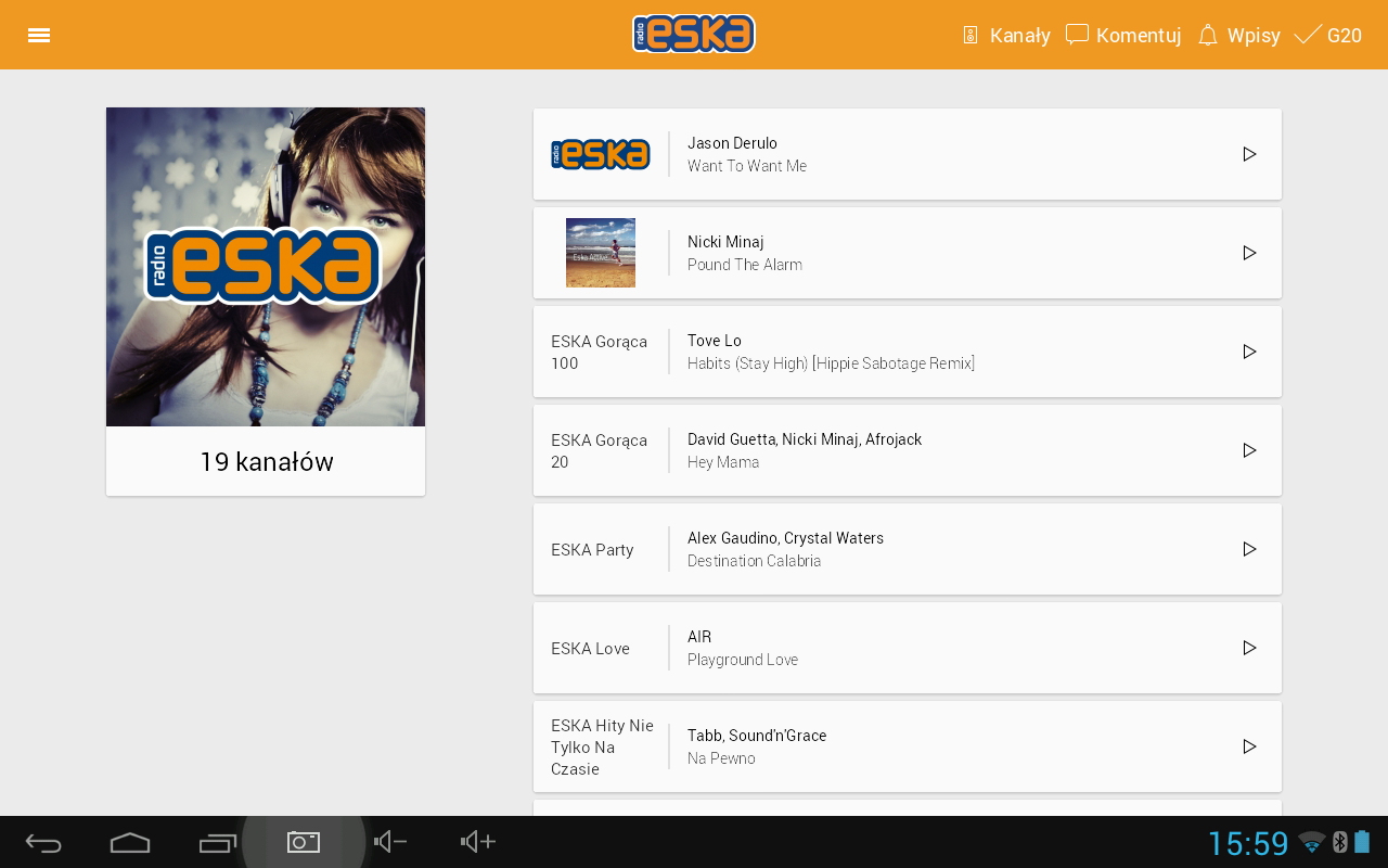 Radio ESKA - radio internetowe- screenshot