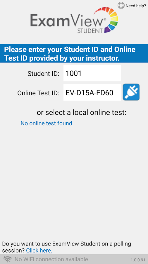 ExamView Student Smartphone- screenshot