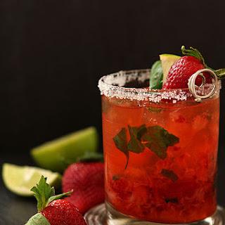 Strawberry and Basil Margarita