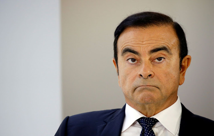 Carlos Ghosn at a press conference during the Paris auto show, in Paris, France, in this file photo from October 3 2018. Picture: REUTERS/REGIS DUVIGNAU