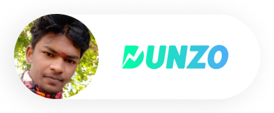 A profile image of a man named Anand with the Dunzo logo next to him.