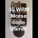 30WPM Amateur ham radio Koch CW Morse code trainer icon