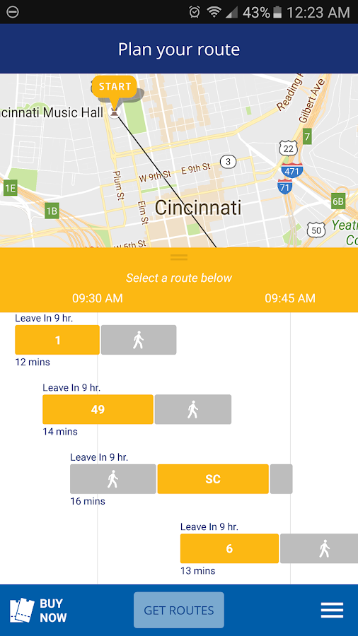 Cincy EZRide- screenshot