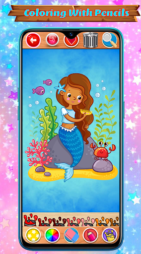 Mermaid Coloring Book Glitter screenshot 13