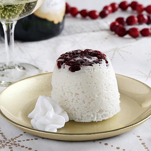 Cranberry Champagne Mug Cakes Recipe