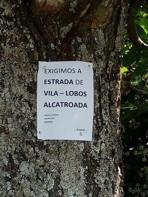 Habitantes de Vila-Lobos querem estrada alcatroada