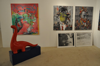 Photo: Works by (left to right) Tim Berg & Rebekah Myers, Nicholas Kashian and Luis Barba.