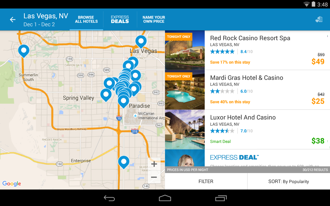 Priceline Hotels, Flight & Car- screenshot
