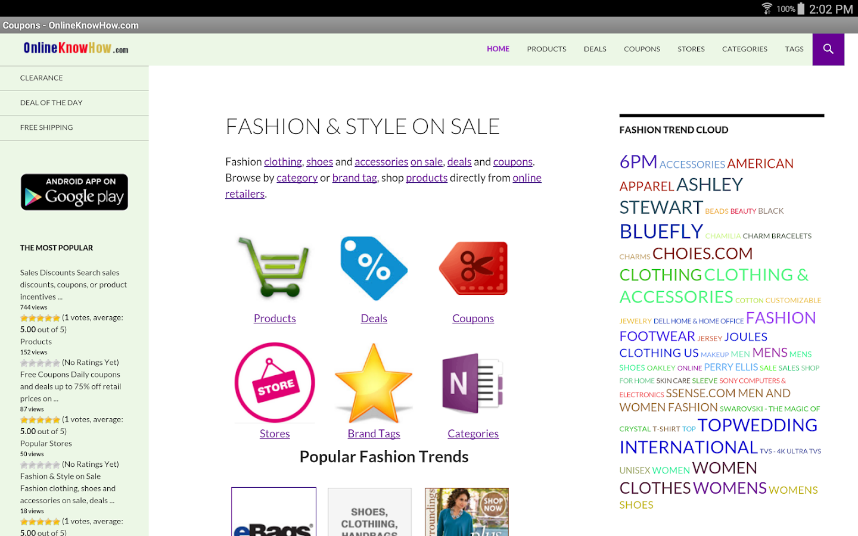 Fashion & Style On Sale- screenshot