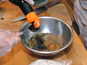 Photo: mixing ingredients for marinade