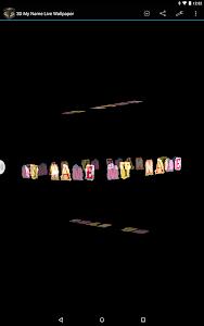 3D My Name Live Wallpaper screenshot 6