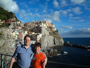 Photo: Then we took the train to Cinque Terre - we were staying in Manarola