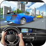 City GT Car Racer in Traffic Icon