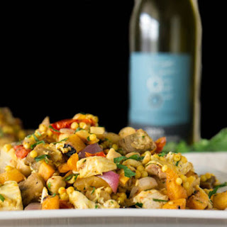 Moroccan Couscous Salad With Grilled Veggies & Chicken