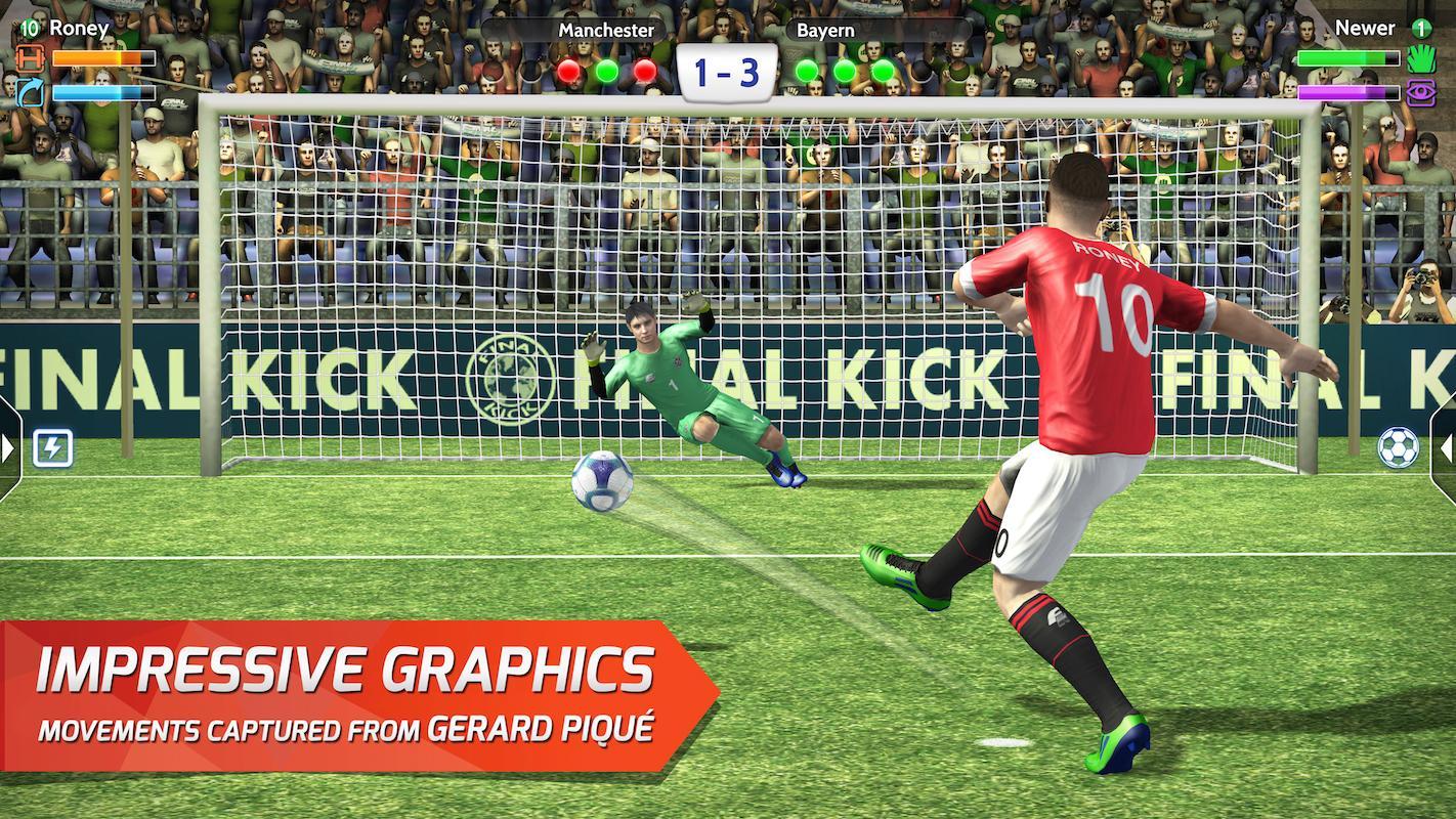 Screenshots of Final kick: Online football for iPhone